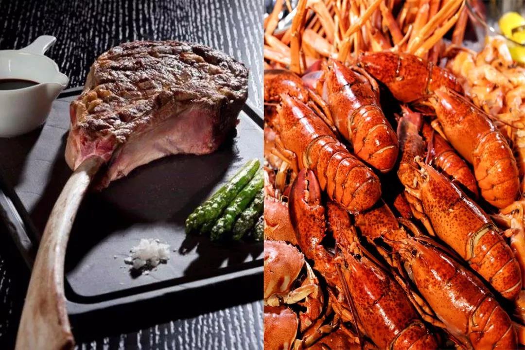 海鲜与肉食的狂欢,任点任食自助餐挥手致意~ 战斧砍龙虾 | 海鲜与